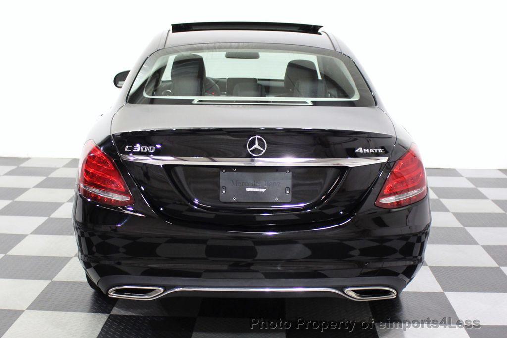 2018 Mercedes-Benz C-Class CERTIFIED C300 4MATIC awd LED BLIS BURMESTER NAV CAM PANO - 18315054 - 31