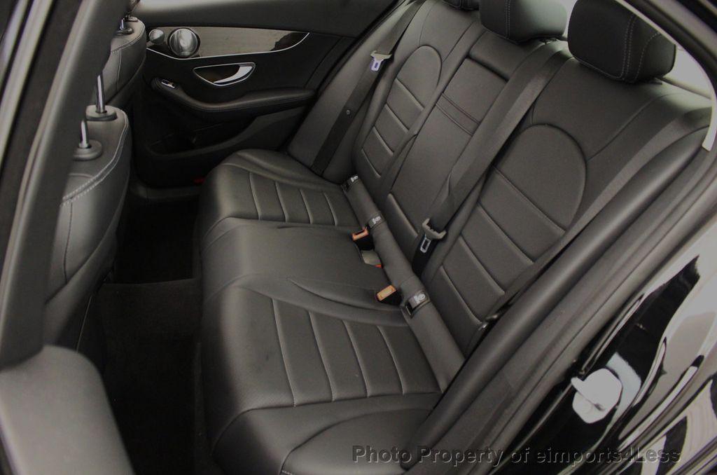 2018 Mercedes-Benz C-Class CERTIFIED C300 4MATIC awd LED BLIS BURMESTER NAV CAM PANO - 18315054 - 36