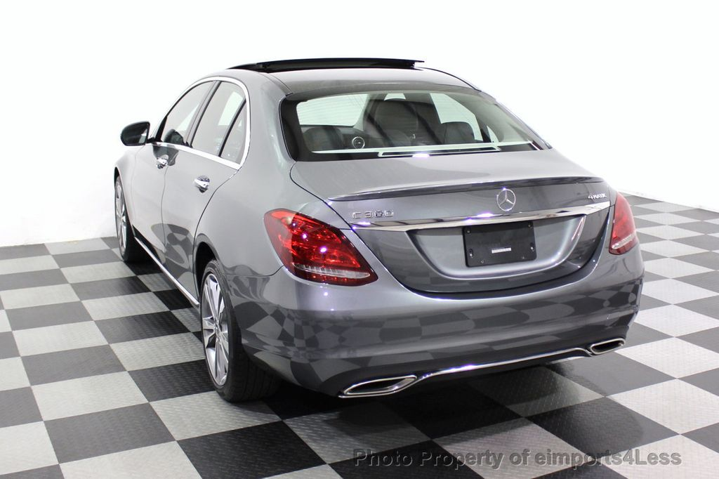 2018 Mercedes-Benz C-Class CERTIFIED C300 4MATIC AWD LED BLIS PANO NAV CAM - 18302575 - 16