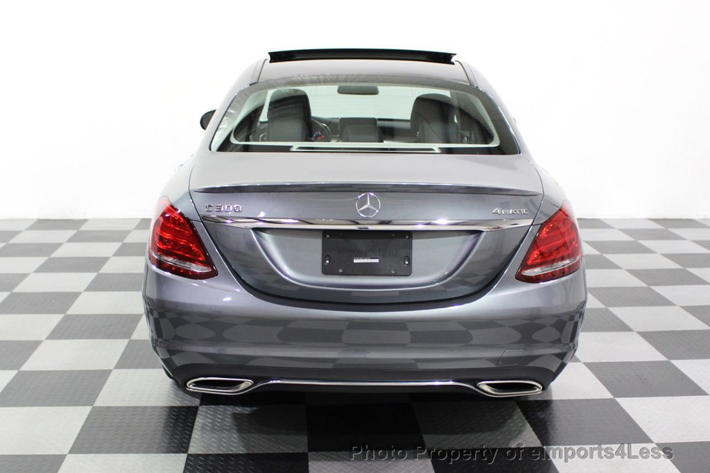 2018 Mercedes-Benz C-Class CERTIFIED C300 4MATIC AWD LED BLIS PANO NAV CAM - 18302575 - 17