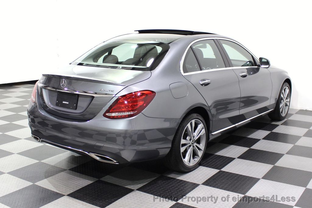 2018 Mercedes-Benz C-Class CERTIFIED C300 4MATIC AWD LED BLIS PANO NAV CAM - 18302575 - 18