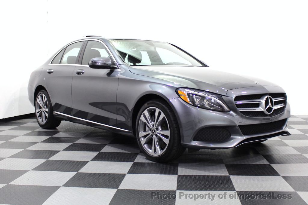 2018 Mercedes-Benz C-Class CERTIFIED C300 4MATIC AWD LED BLIS PANO NAV CAM - 18302575 - 1