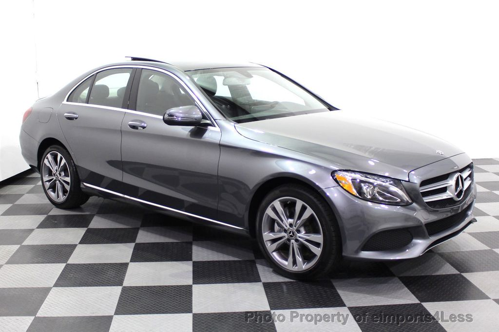 2018 Mercedes-Benz C-Class CERTIFIED C300 4MATIC AWD LED BLIS PANO NAV CAM - 18302575 - 29