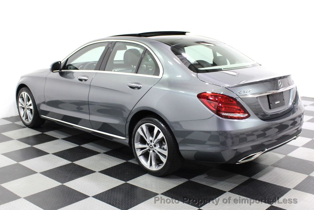 2018 Mercedes-Benz C-Class CERTIFIED C300 4MATIC AWD LED BLIS PANO NAV CAM - 18302575 - 30