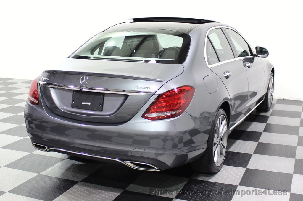 2018 Mercedes-Benz C-Class CERTIFIED C300 4MATIC AWD LED BLIS PANO NAV CAM - 18302575 - 32