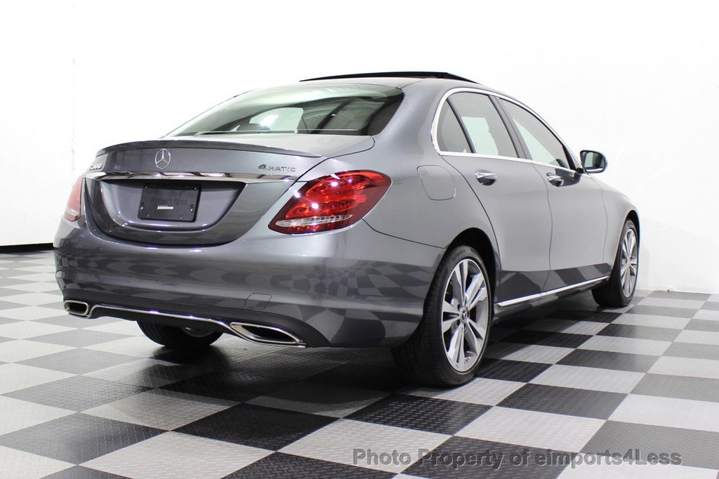 2018 Mercedes-Benz C-Class CERTIFIED C300 4MATIC AWD LED BLIS PANO NAV CAM - 18302575 - 3