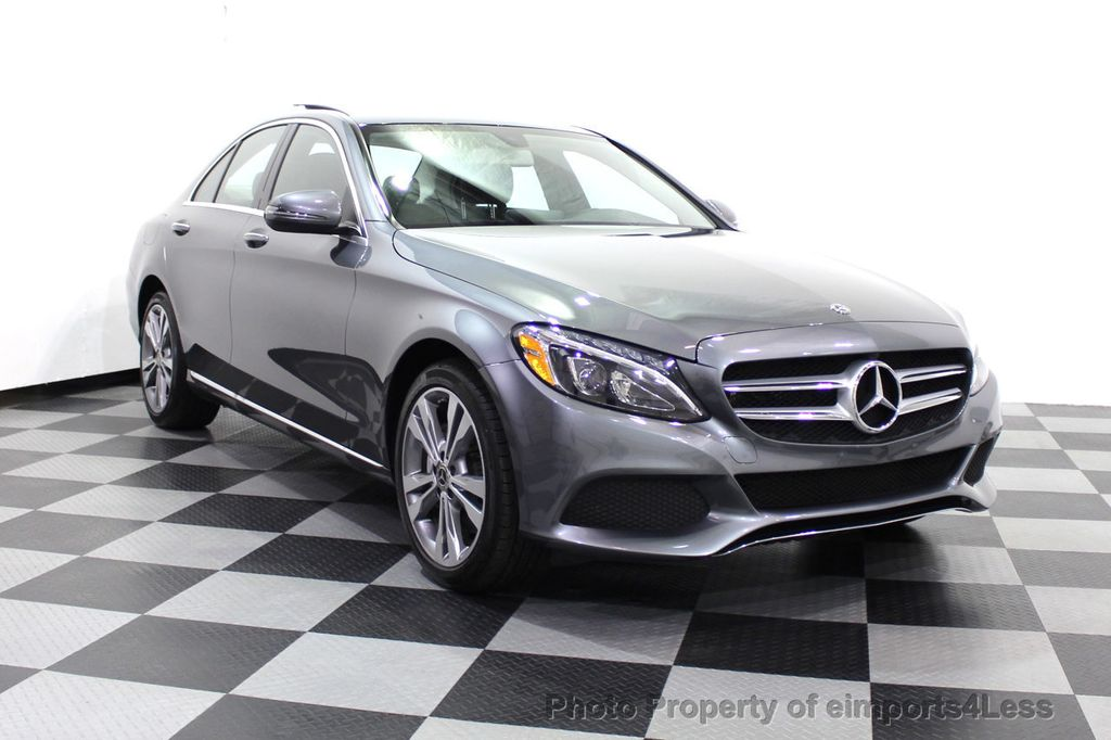 2018 Mercedes-Benz C-Class CERTIFIED C300 4MATIC AWD LED BLIS PANO NAV CAM - 18302575 - 45