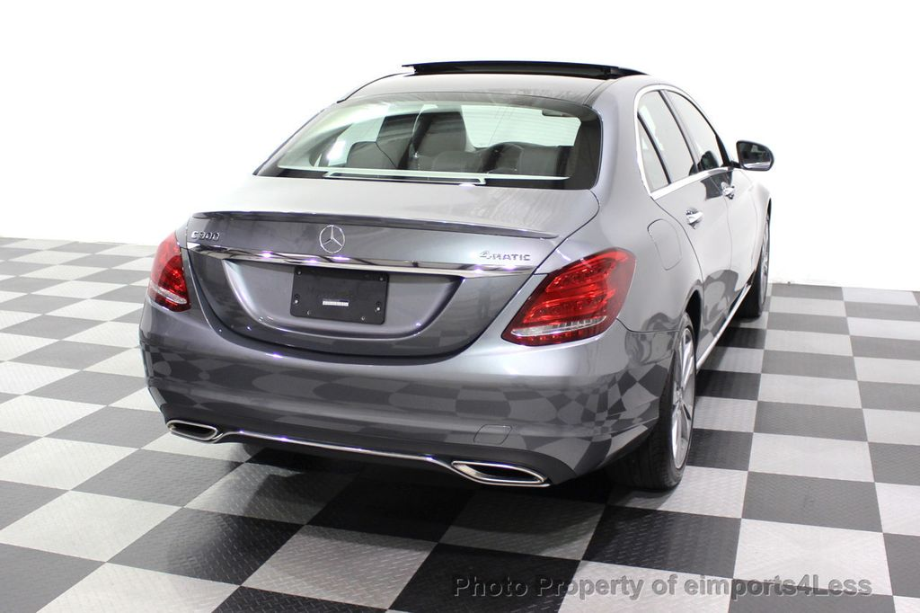 2018 Mercedes-Benz C-Class CERTIFIED C300 4MATIC AWD LED BLIS PANO NAV CAM - 18302575 - 47