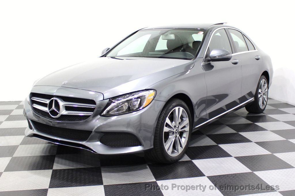 2018 Mercedes-Benz C-Class CERTIFIED C300 4MATIC AWD LED BLIS PANO NAV CAM - 18302575 - 52