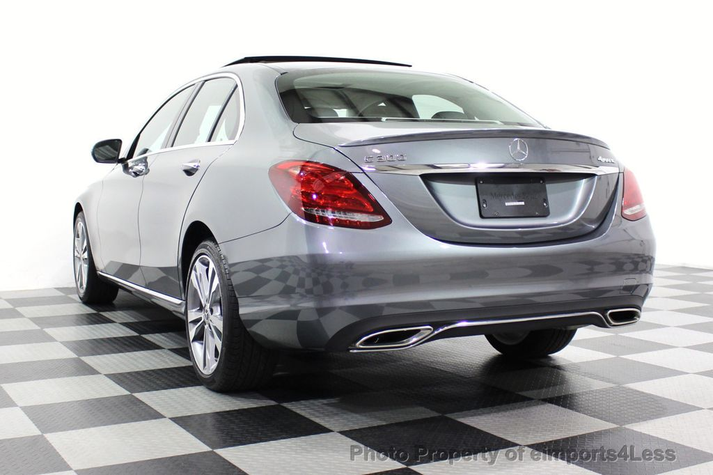 2018 Mercedes-Benz C-Class CERTIFIED C300 4MATIC AWD LED BLIS PANO NAV CAM - 18302575 - 53