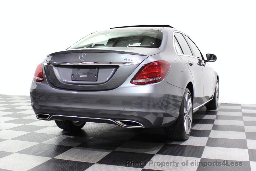 2018 Mercedes-Benz C-Class CERTIFIED C300 4MATIC AWD LED BLIS PANO NAV CAM - 18302575 - 54