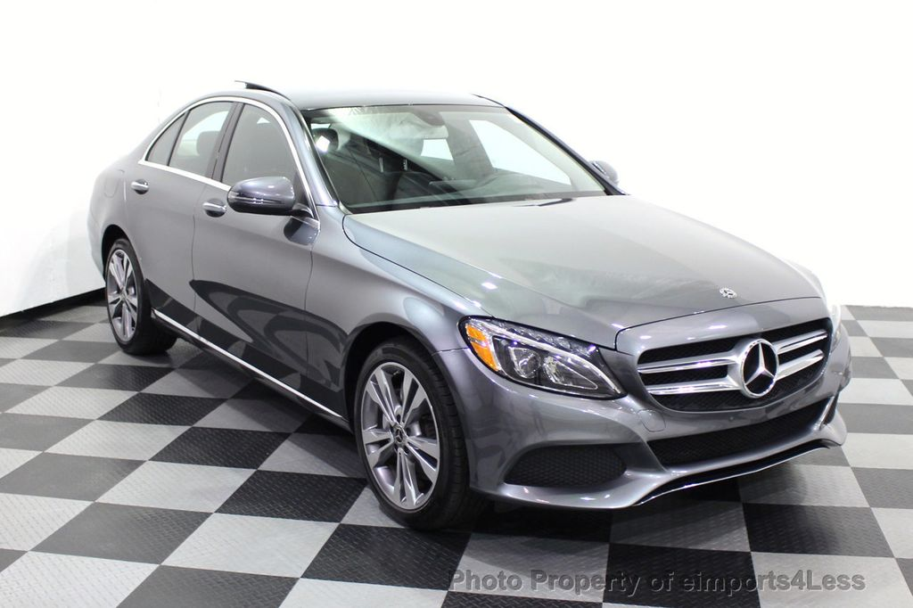 2018 Mercedes-Benz C-Class CERTIFIED C300 4MATIC AWD LED BLIS PANO NAV CAM - 18302575 - 55