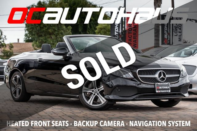 2018 Mercedes-Benz E-Class E 400 RWD Cabriolet for Sale Westminster, CA -  $57,995 - Motorcar com