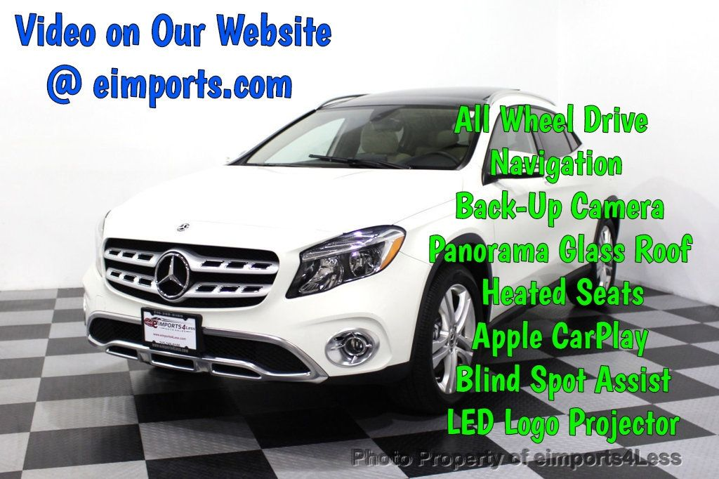 2018 Mercedes-Benz GLA CERTIFIED GLA250 4Matic AWD CAMERA Blind Spot NAVI - 18196742 - 0