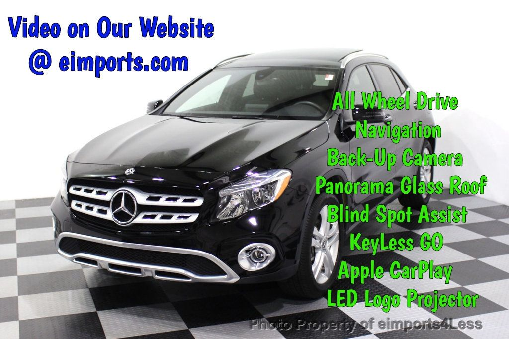 2018 Mercedes-Benz GLA CERTIFIED GLA250 4Matic AWD CAMERA PANO NAVI - 18196745 - 0