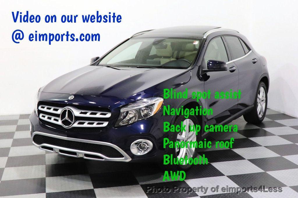 2018 Mercedes-Benz GLA CERTIFIED GLA250 4MATIC AWD NAV CAM PANO BLIS - 18467686 - 0