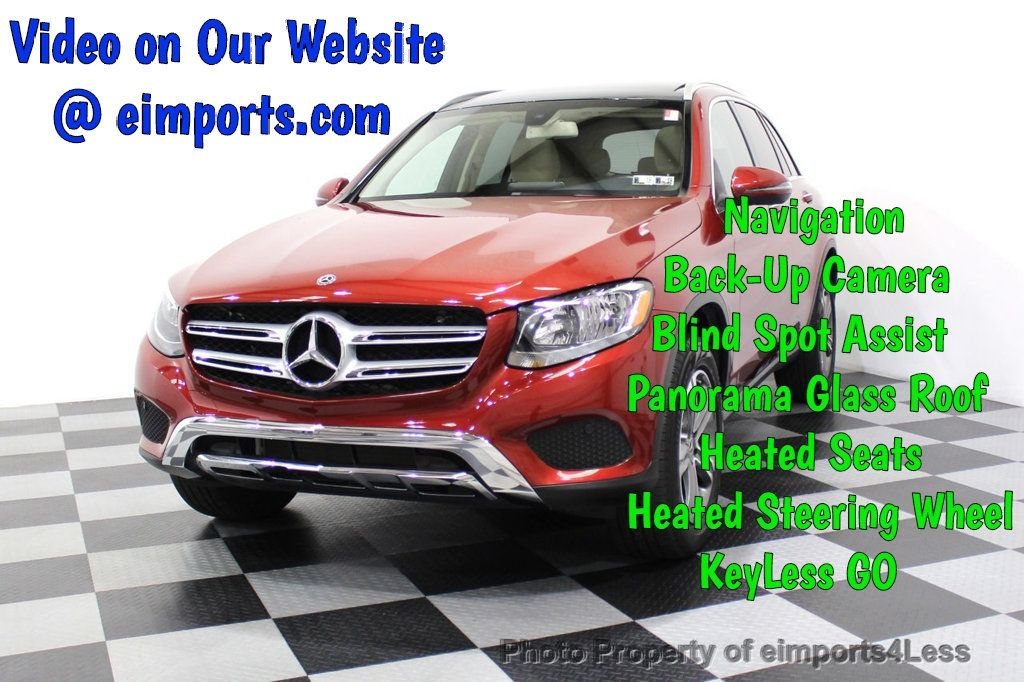 2018 Mercedes-Benz GLC CERTIFIED GLC300 4MATIC Pano Nav BLIS Camera - 18257420 - 0