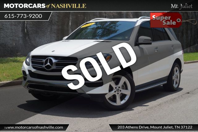 Mercedes Gle 350 >> 2018 Used Mercedes Benz Gle Gle 350 Suv At Motorcars Of Nashville Downtown Tn Iid 18957940