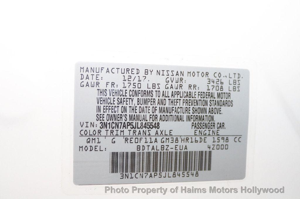 2018 Nissan Versa Sedan SV CVT - 18183654 - 29