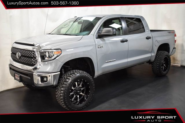 2018 Used Toyota Tundra 10 000 In 6 Lift 35 Tires Crewmax Trd Off Road Cement Grey At Luxury Sport Autos Serving Tigard Portland Or Iid 20216081