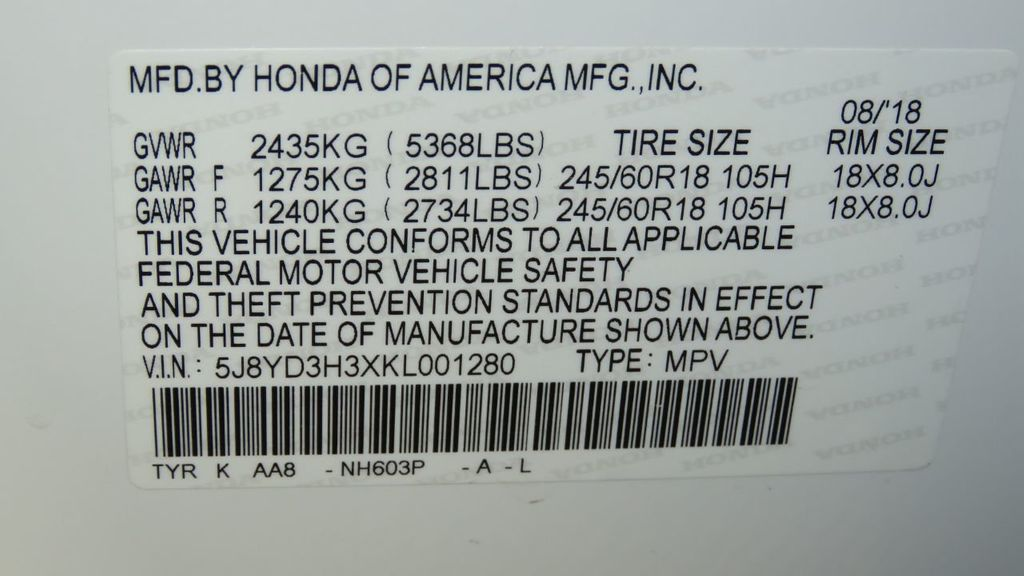 2019 Acura MDX COURTESY VEHICLE  - 18096301 - 35