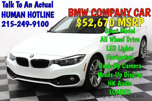 2019 Used Bmw 4 Series Certified 430i Xdrive Gran Coupe Sport Awd Hud Led Hk Nav Cam At Eimports4less Serving Doylestown Bucks County Pa Iid