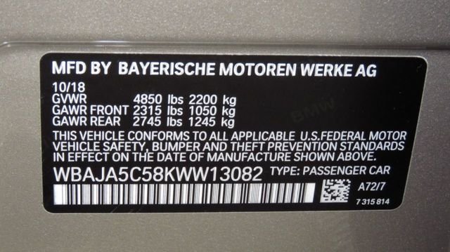 2019 BMW 5 Series COURTESY VEHICLE  - 18742974 - 36