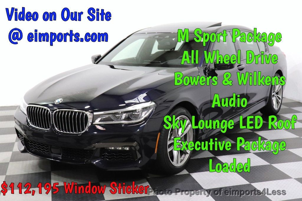 2019 BMW 7 Series CERTIFIED 750i xDrive M Sport AWD Sky Lounge Roof - 18587060 - 0