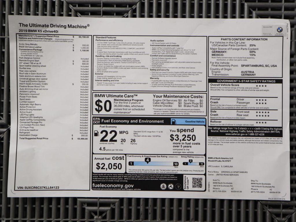 2019 Used BMW X5 xDrive40i Sports Activity Vehicle at MINI North Scottsdale  Serving Phoenix, AZ, IID 19267985
