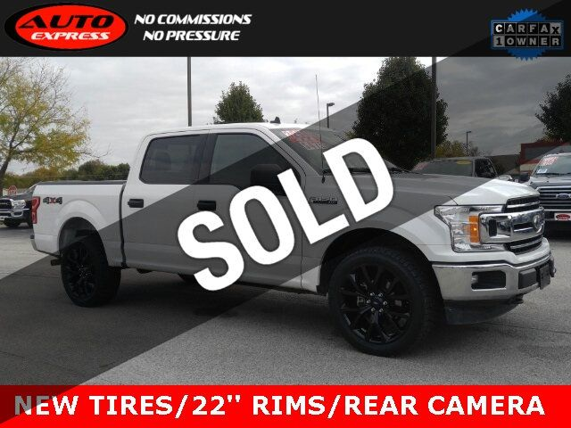 Used F 150 >> 2019 Used Ford F 150 Xlt Crew Cab 4x4 22 Black Rims New Mickey Thompson At Tires At Auto Express Lafayette In Iid 19434312