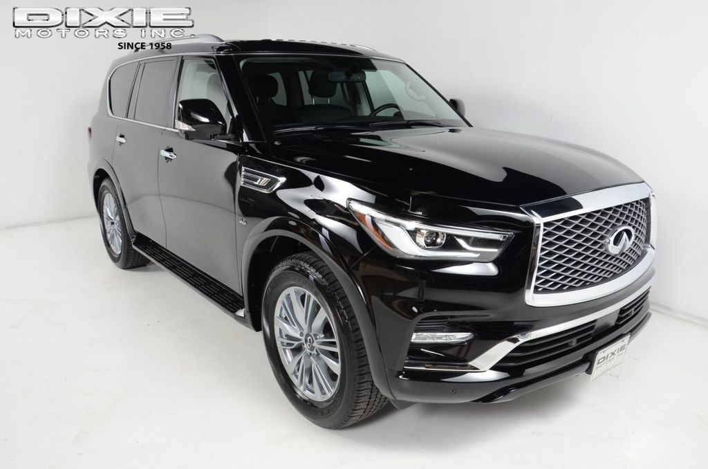 Used Infiniti Qx80 >> 2019 Used Infiniti Qx80 Navigation Moon Roof Bsm Quad Seating Heated Steering Wheel At Dixie Motors Serving Nashville Franklin Murfeesboro Tn Iid