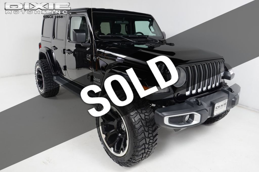 2019 Used Jeep Wrangler Unlimited Sahara New Lift New Wheels Tires At Dixie Motors Serving Nashville Franklin Murfeesboro Tn Iid 19302835