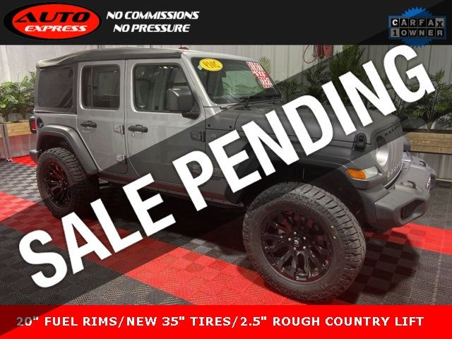 Jeep Wrangler Unlimited Sport >> 2019 Used Jeep Wrangler Unlimited Unlimited Sport 4x4 20 Fuel Blitz D675 Rims Rear Camera At Auto Express Lafayette In Iid 19442697