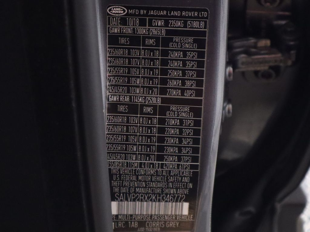 2019 Land Rover Range Rover Evoque COURTESY VEHICLE  - 18671128 - 35