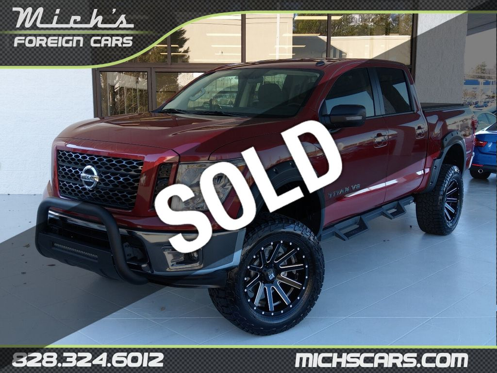 2019 Used Nissan Titan Sv 4wd 6 Lift Big Wheels And Tires Awesome At Michs Foreign Cars Serving Hickory Nc Iid 20575523