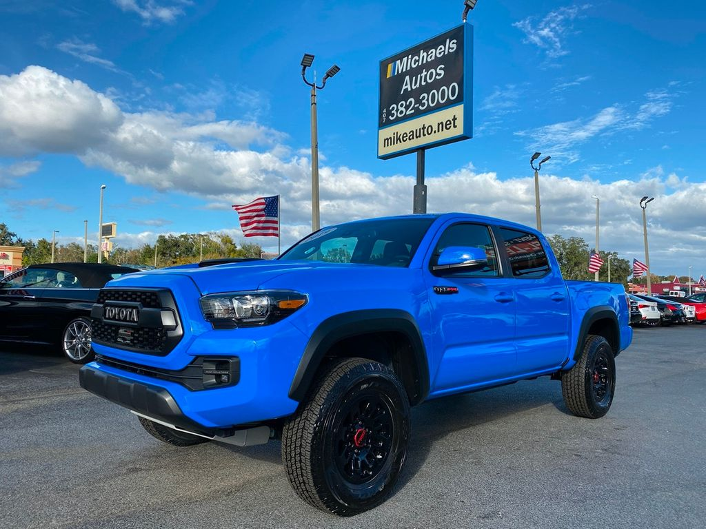 Blue Toyota Tacoma >> 2019 Used Toyota Tacoma Trd Pro 4wd Trd Pro 4wd Voodoo Blue Leather Roof Navi Backupcam Bedliner At Michaels Autos Serving Orlando Fl Iid 19658866