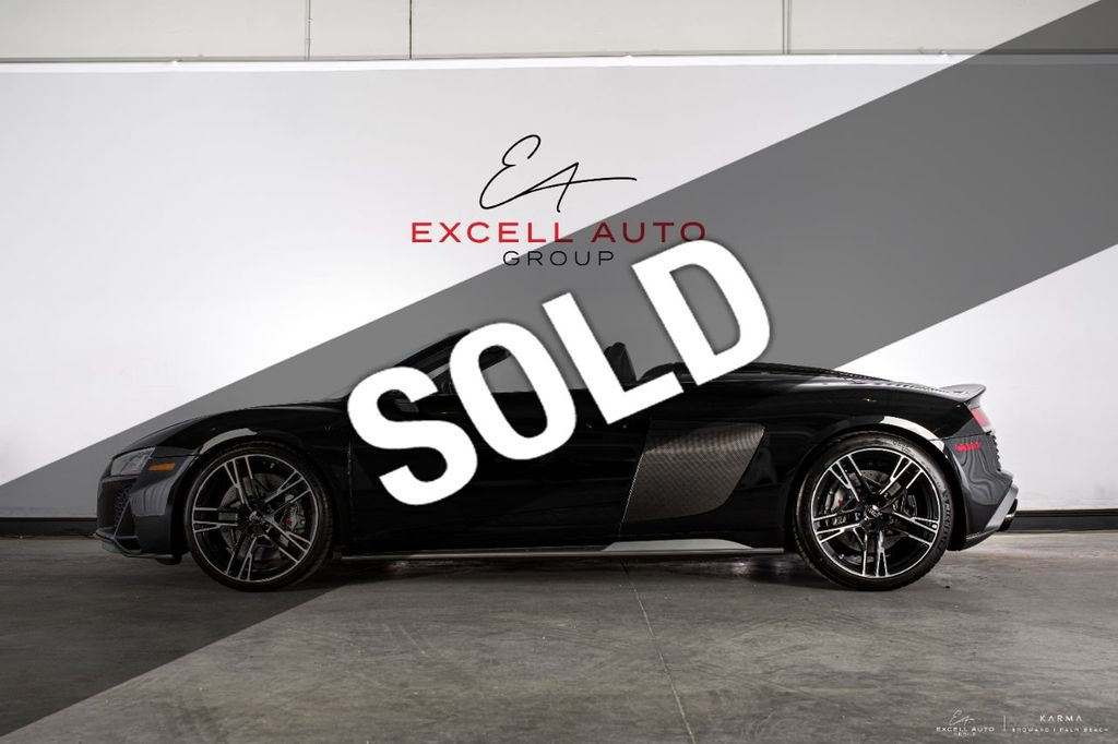 2020 Used Audi R8 Spyder V10 Performance Quattro At Excell Auto Group Serving Boca Raton Fl Iid 20522553